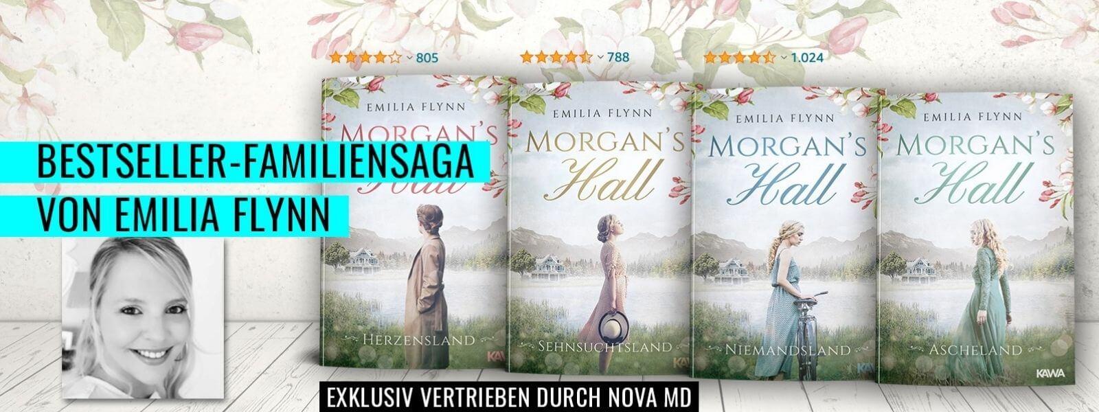 """Bestseller-Familiensaga """"Morgan's Hall"""" von Emilia Flynn"""