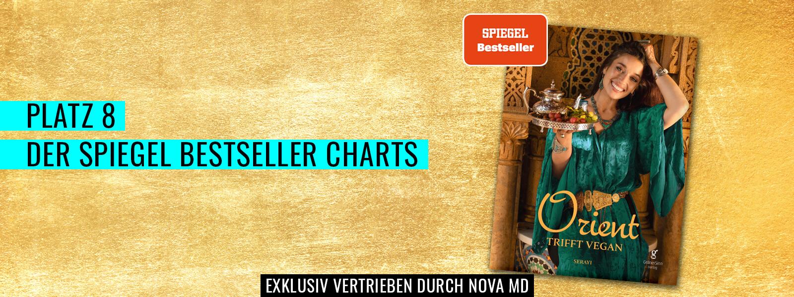 """""""Orient trifft vegan"""" von Serayi auf Platz 8 der Spiegel Bestseller Charts"""