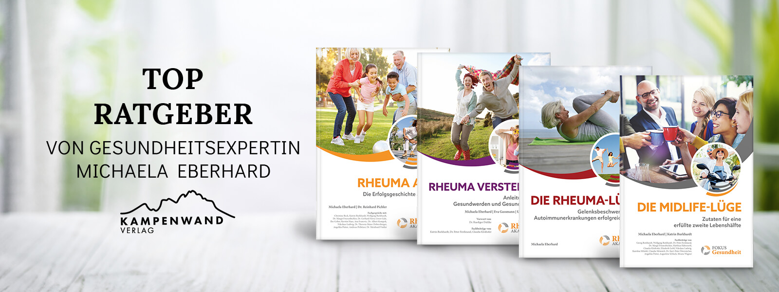 Rheuma-Bücher der Rheuma-Akademie von Michaela Eberhard