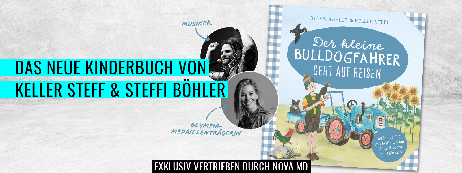 das neue Kinderbuch von Musiker Keller Steff und Olympiamedaillenträgerin Steffi Böhler