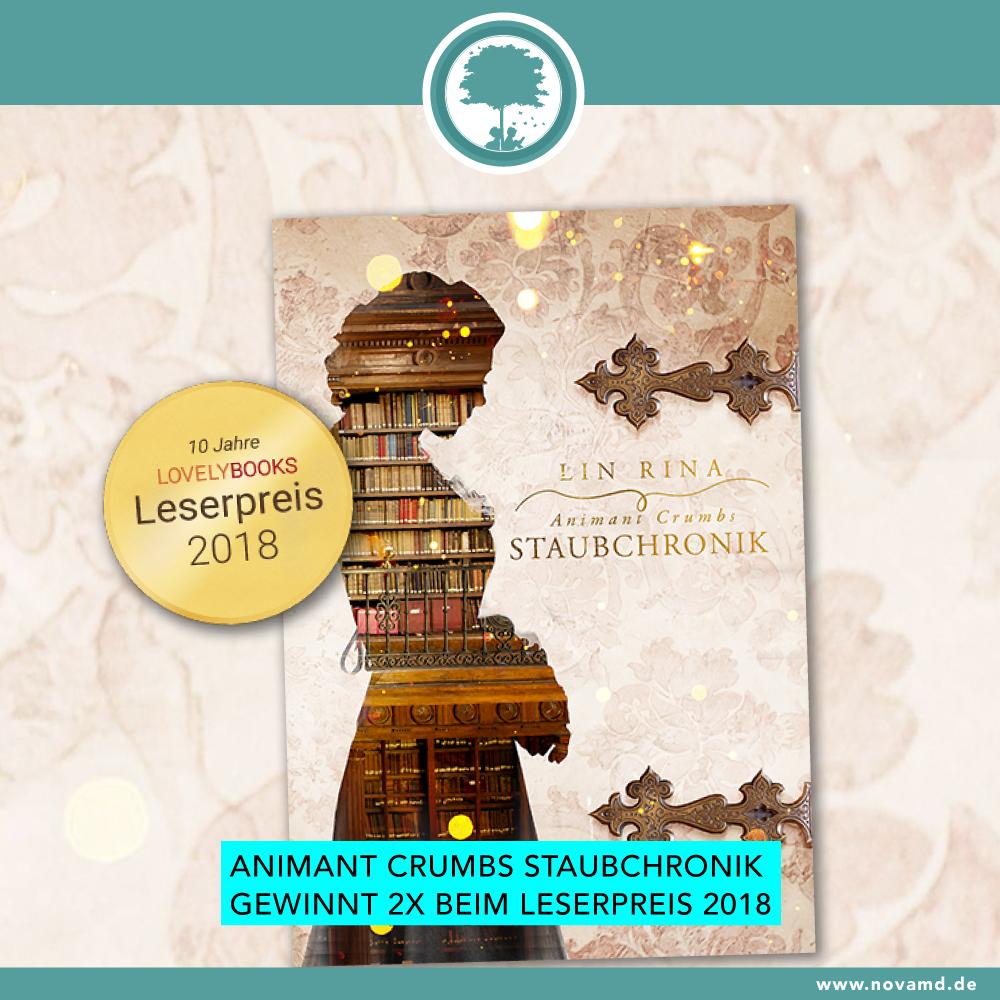 """Animant Crumbs Staubchronik"" 2-times reader prize winner"