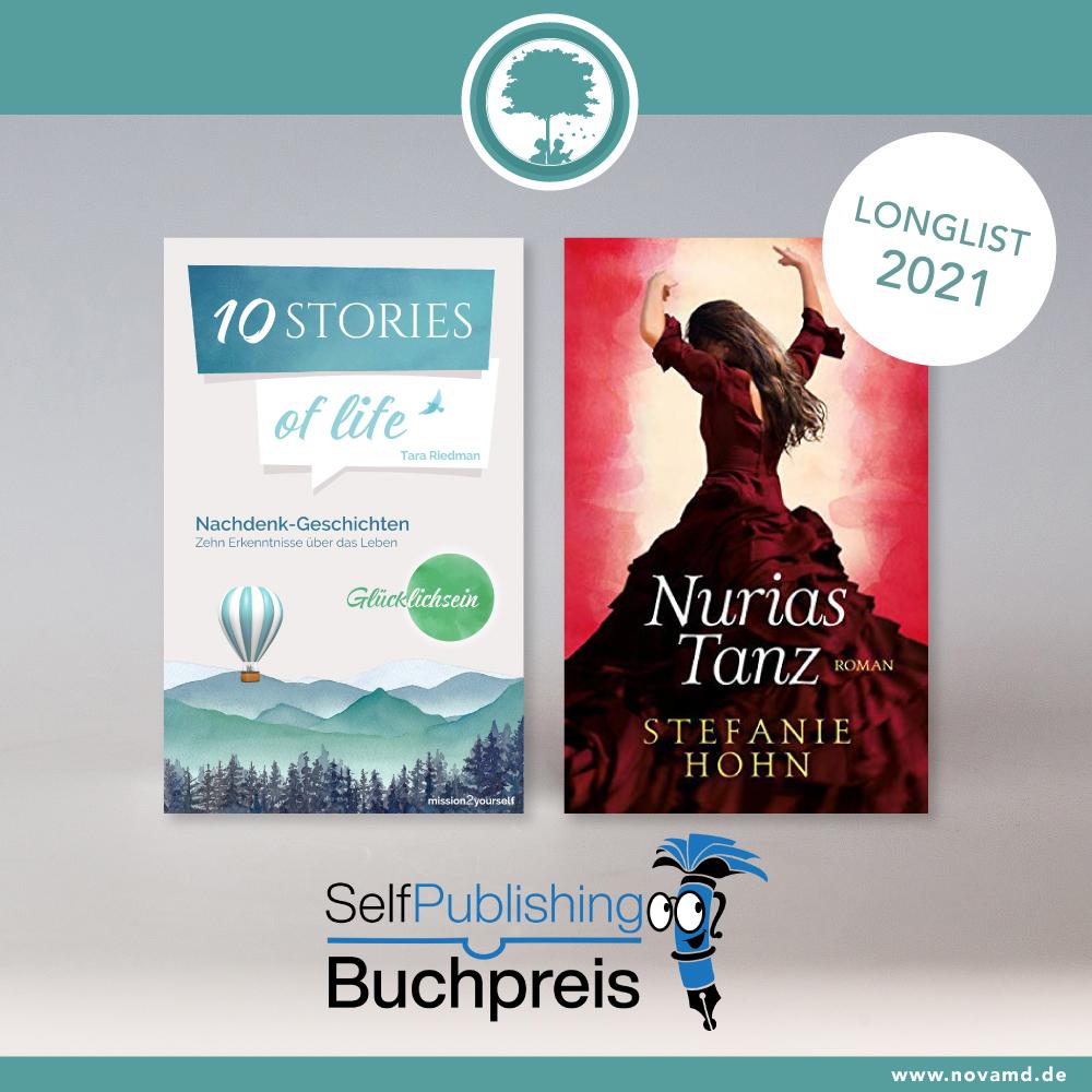 """""""10 Stories of life"""" und """"Nurias Tanz"""" auf der Longlist 2021 des Selfpublishing Buchpreis"""